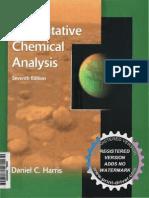 Quantitative Chemical Analysis Daniel Harris 7th Full