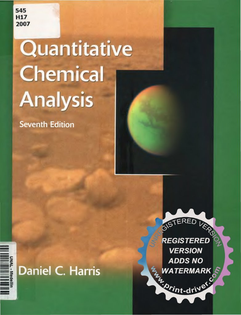 Quantitative chemical analysis daniel harris 7th full fandeluxe Image collections