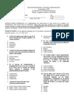 Examen Geografía 2 Bimestre