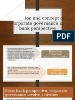 Definition and Concept of Corporate Governance in Bank