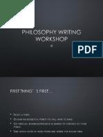 Philosophy Writing Workshop