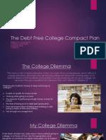 the debt free college plan position argument