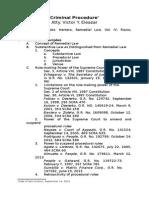 Syllabus on Criminal Procedure.part I