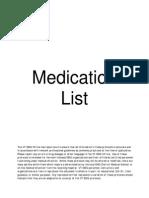 Medication List