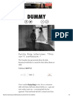 Purity Ring Interview - Dummy