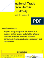 unit 13 - lesson 6 - subsidy