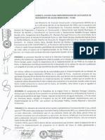Acta de reunión sobre el avance para implementación de las plantas de tratamiento de aguas residuales - Puno