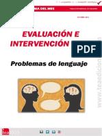 Evaluación e intervención en Problemas de lenguaje