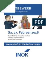 Wettbewerb Neue Musik für Kinder und Jugendliche 2016