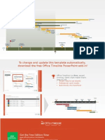 Editable Powerpoint Gantt chart template - wide screen