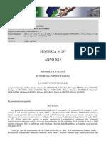 Corte Costituzionale - Pronuncia 247/2015