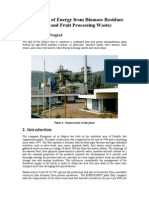 Production of Energy From Biomass Residues