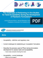 the challenges of performing in vivo studies for taste or acceptability aps 2015 final modified no logos