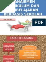 Manajemen Kurikulum Dan Pembelajaran
