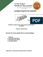 Modelación y Simulación de Operaciones y Procesos