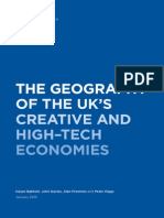 The geography of the UK's creative and high–tech economies