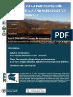 Locandina avvio processo partecipativo PPR San leonardo 14 dicembre 2015 ore 20