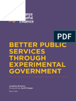Better Services Through Experimental Government