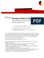 Aboriginal Affairs Project Intern