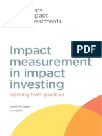 Impact Measurement in Impact Investing (1)