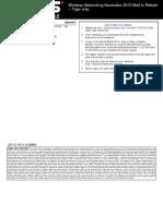 ASUS Wireless Networking November Mail-In-Rebate ASU-13376 (Tiger) 1127...