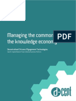 D-CENT Managing the Commons in the Knowledge Economy
