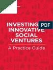 Investing in Innovative Social Ventures
