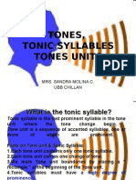 Tones Tonic Syllables