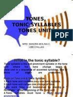Tones Tonic Syllables