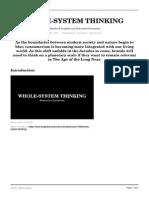 Whole System Thinking