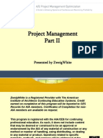 A/E Project Management Optimization Part two
