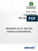 6º Ano Do Ensino Fundamental (Edital 13)