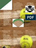 softball brochure