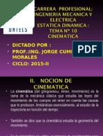 Estatica Dinamica 2015 i Semana 10 Cinematica