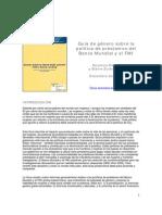 Gender_guide_esp Guía de Género Sobre La Política de Préstamos Del Banco Mundial y El FMI