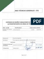 ETG-A.2.03 Diseño Fundaciones Estructuras Líneas