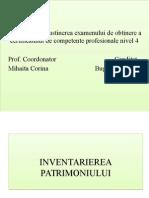 Inventarierea patrimoniului- prezentare power point