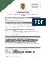 Certificado de Organización de una Compañía de Responsabilidad Limitada - Google Puerto Rico LLC