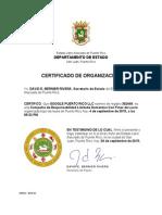 CERTIFICADO DE ORGANIZACIÓN - GOOGLE Puerto Rico LLC