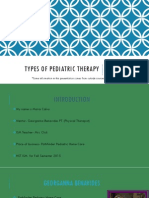 types of pediatric therapy