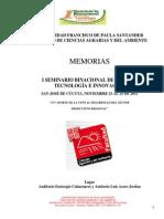 Memorias i Congreso Binacional 2011