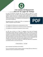 PEL OSHA Cálculo de Límites de Exposición Permitidos en Tu Lugar de Trabajo