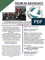 UN Practicum In Advocacy