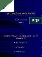 CAP-I, Part 2 Estudios de Ingeniería