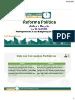 Reforma Política_antes e Depois_lei Das Eleições