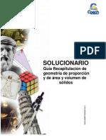Sol. Guia G-15 Recapitulacion de Geometria de Proporcion y de Area y Volumen de Solidos