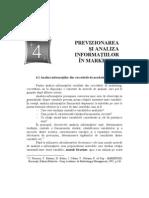 4.Previzionarea Si Analiza Informatiilor in Marketing