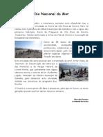 Artigo - Dia Nacional Do Mar