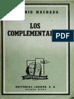 Los Complementarios - Antonio Machado