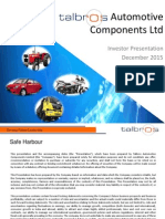 Investor Presentation - December 2015 [Company Update]